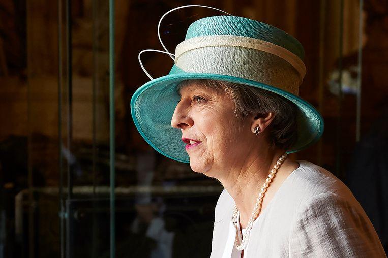 Theresa May, hier nog premier, trof met haar beleid veel zwarte Britten. Beeld AFP