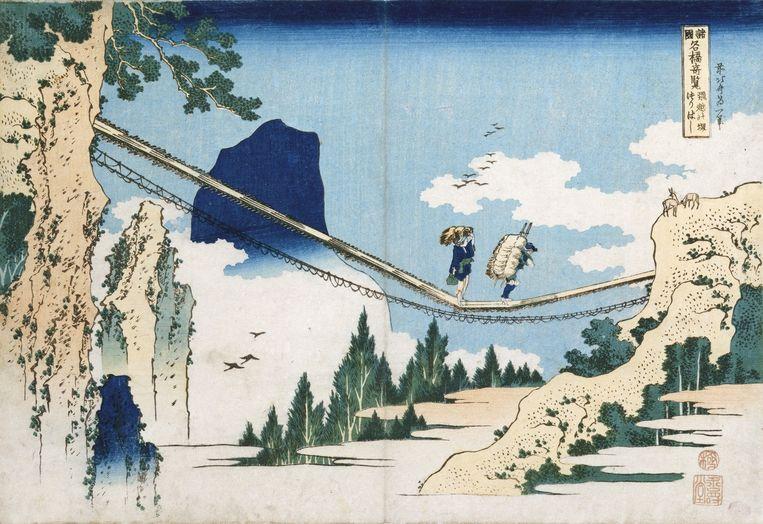 Land: Japan. Tekenen is hun, maar ook mijn primaire beeldmiddel. 'Ik vind de houtsnedeprinten van Katsuhika Hokusai (foto) erg mooi.' Beeld Corbis