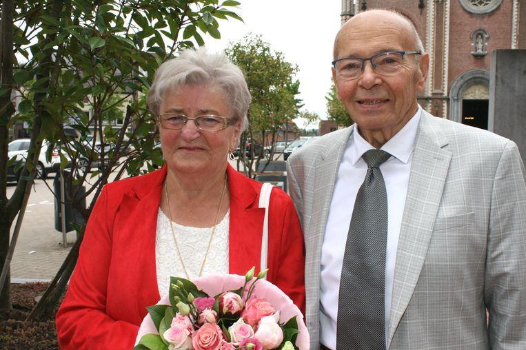 Maria en Hubert 60 jaar samen.