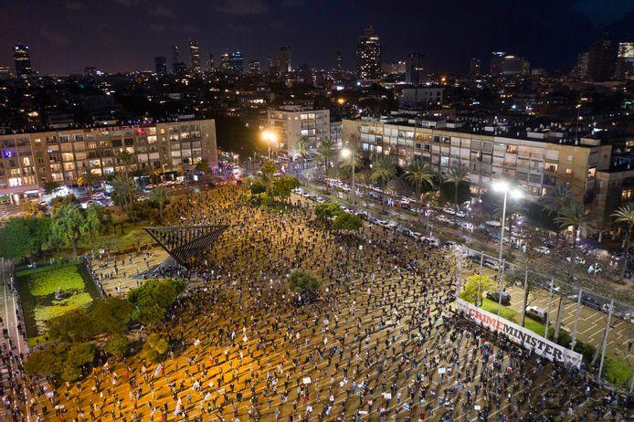 De coronamaatregelen werden zoveel mogelijk gerespecteerd tijdens het protest.