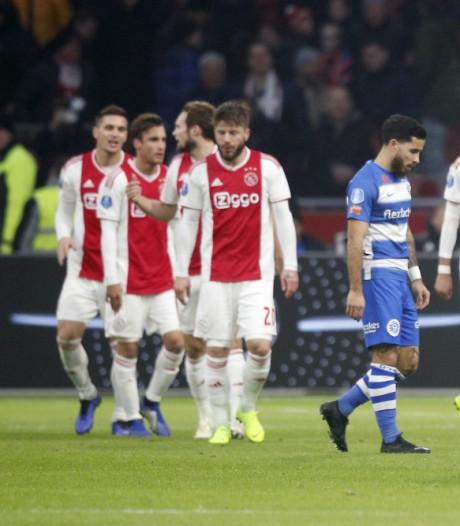 Ajax walst dankzij hattricks Ziyech en Blind over hekkensluiter heen