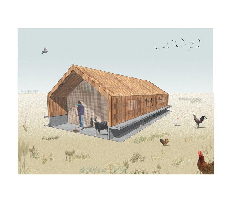Het ontwerp van het nieuwe dierenpark voor levend erfgoed.