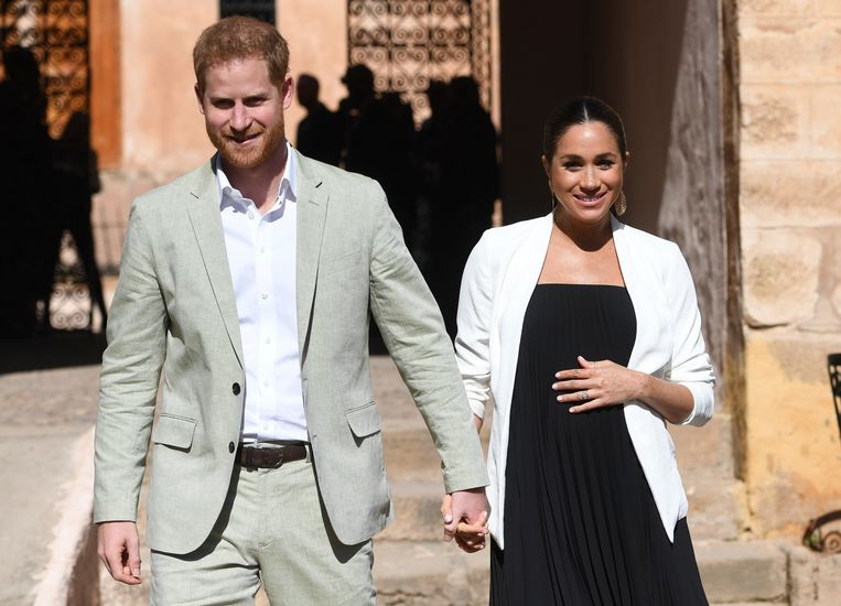 Harry and Meghan in Marokko, in februari. Beeld AP
