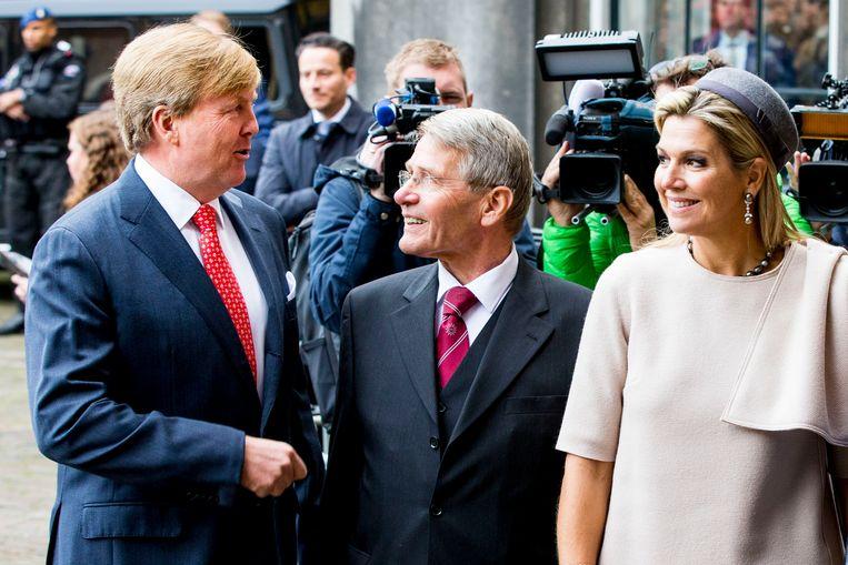 Bij zijn afscheid als vicepresident van de Raad van State is Piet Hein Donner woensdag benoemd tot Grootofficier in de Orde van Oranje-Nassau. Hij ontving de koninklijke onderscheiding van koning Willem-Alexander.  Beeld null