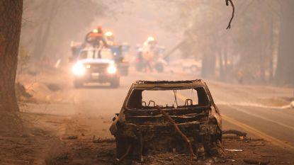 VOOR EN NA. De troosteloze puinhopen die bosbranden in Californië achterlaten