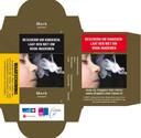 Een ontwerp van hoe het sigarettenpakje er in 2020 uit gaan zien.