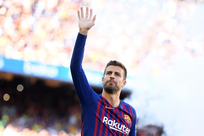 Gerard Piqué in het shirt van FC Barcelona.