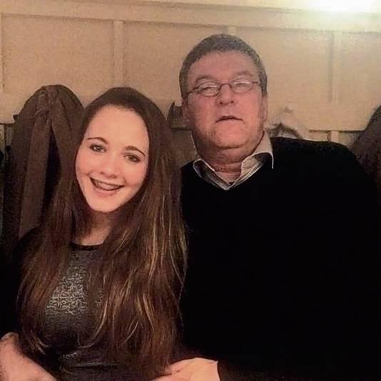 Dascha Graafsma met vader.