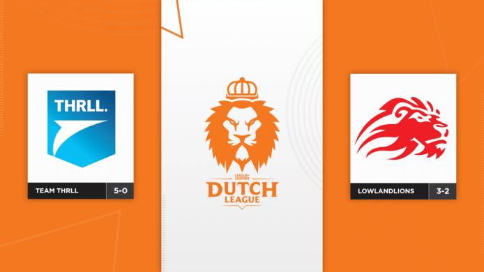Koploper Team THRLL neemt het vanavond in de Dutch League op tegen regerend kampioen LowLandLions.