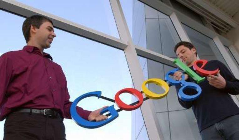 Googleoprichters Larry Page en Sergey Brin