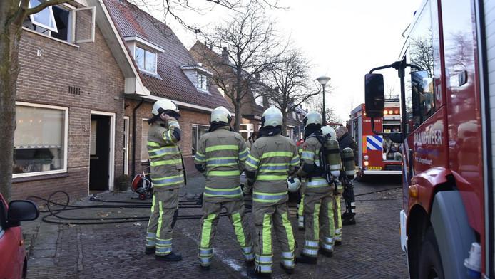 Het Utrechtse korps kwam in Maarssen blussen
