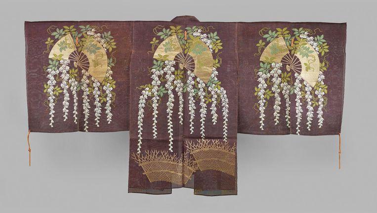 Choken met heggen, waaiers en wisteria, 1700-1800 Beeld Collectie Okura Museum of Art