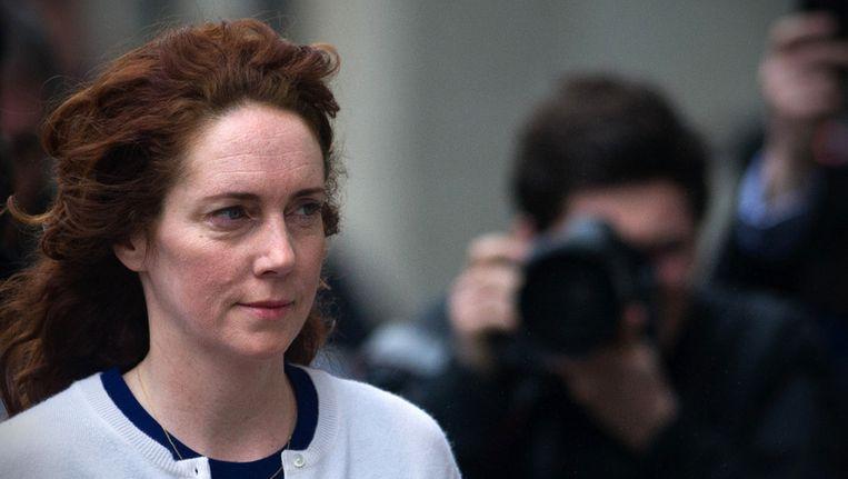 Rebekah Brooks vandaag bij de rechtbank in Londen. Beeld afp