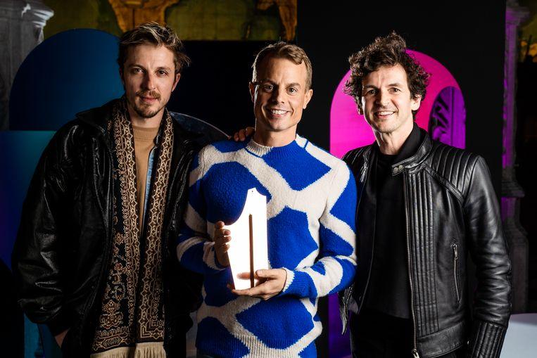 Glenn Martens van het label Y/Project (links), Christian Wijnants (midden) en Wim Van Lessen (rechts).