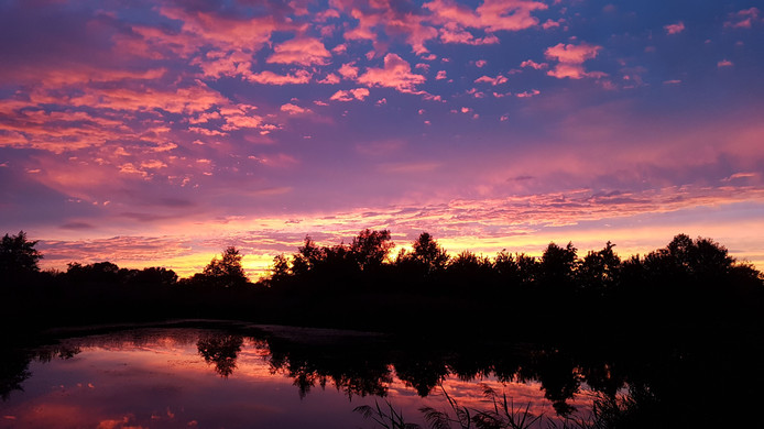 Zonsondergang in Kampen