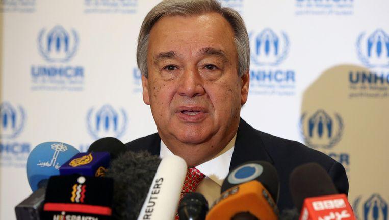 De Hoge Commissaris voor de Vluchtelingen, António Guterres. Beeld ap