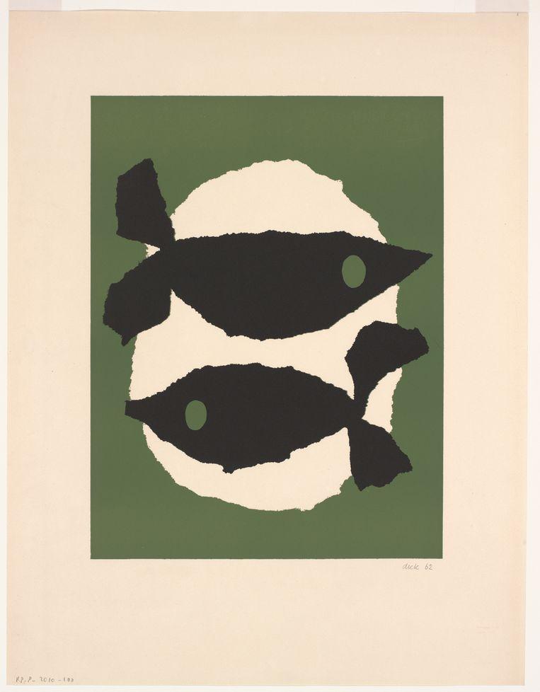 Dick Bruna: Twee vissen, 1962. Beeld Mercis BV