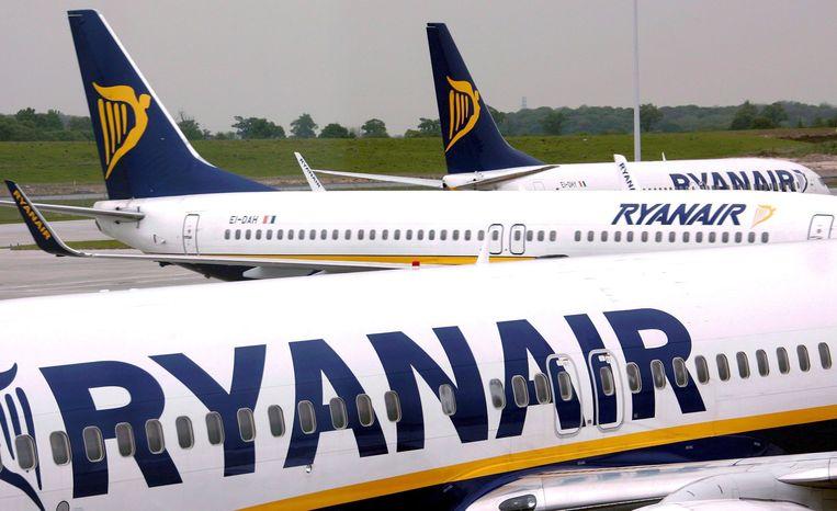 Toestellen van Ryan Air. Beeld anp