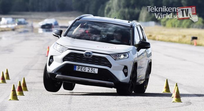 Toyota RAV4 tijdens de beruchte elandtest