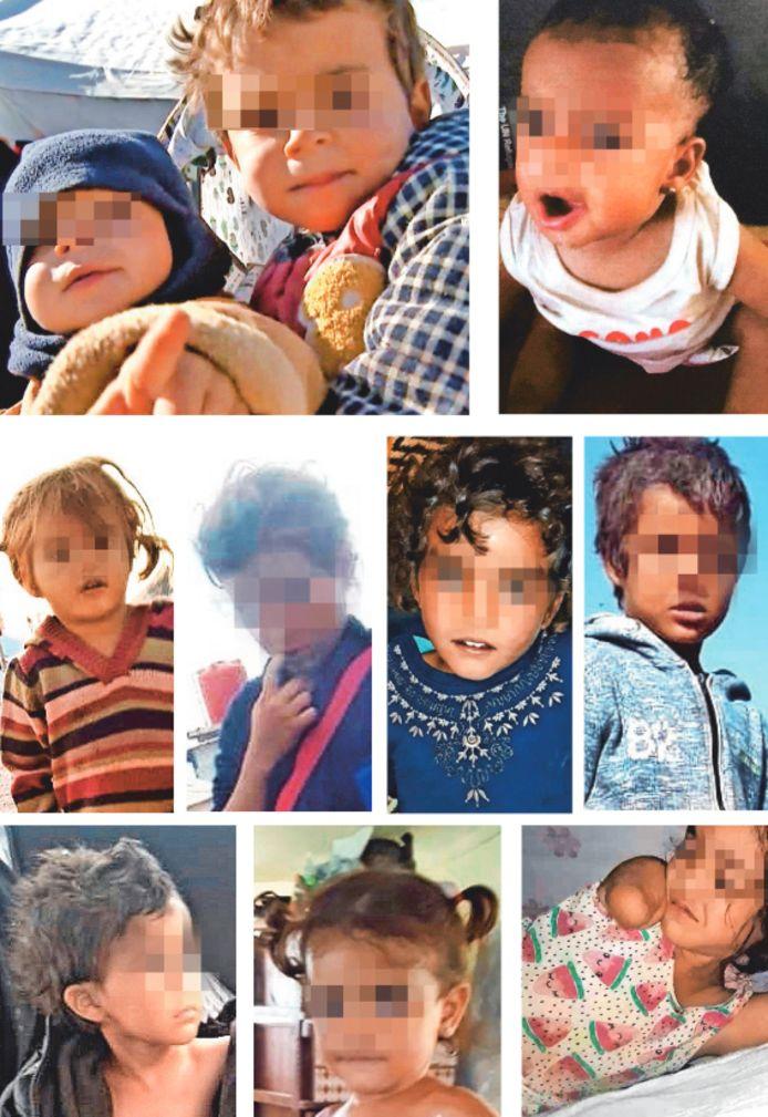 Les dix enfants belges actuellement bloqués dans un camp de réfugiés en Syrie.