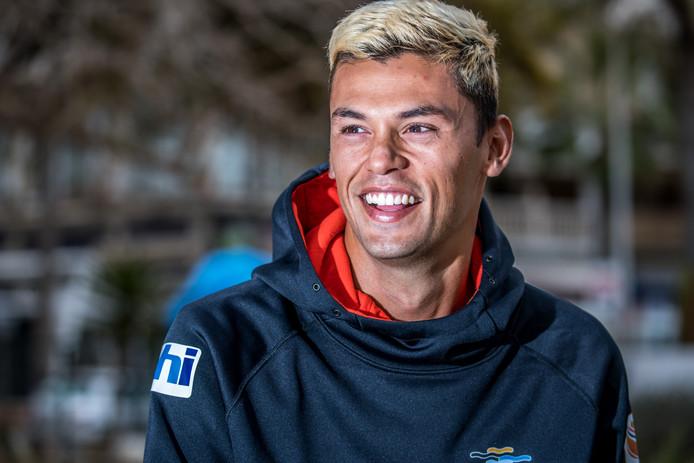 Kiran Badloe werd in september wereldkampioen windsurfen in de RS:X-klasse.