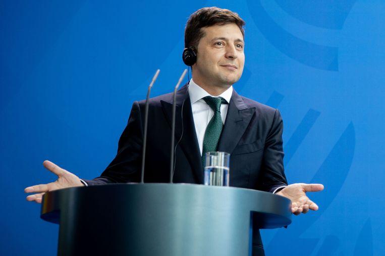 De Oekraïense president Volodymyr Zelensky.