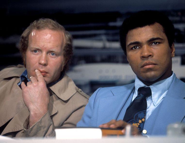 Rudi Lubbers en Muhammad Ali. Beeld anp