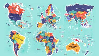 Deze kaart toont wat de namen van alle landen betekenen