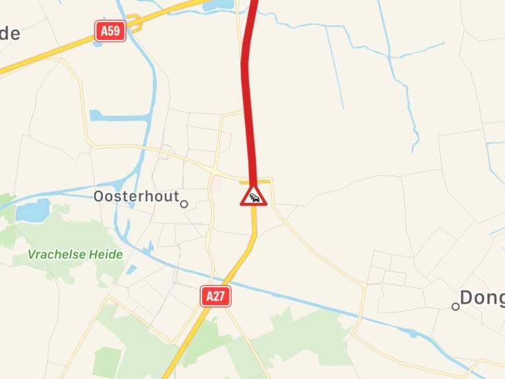 Ongeluk op A27 bij knooppunt Hooipolder, rijbaan weer vrij