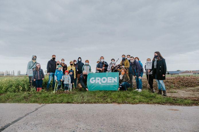 Groen voerde in Poeke actie voor de opening van meer trage wegels.