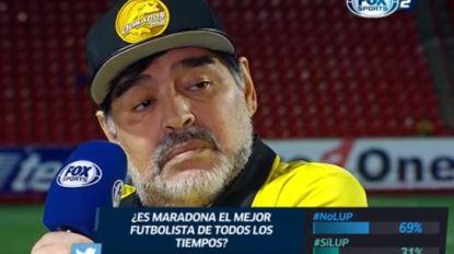 """Maradona haalt uit naar Messi: """"Zinloos om een leider te maken van iemand die voor de wedstrijd 20 keer naar het toilet gaat"""""""