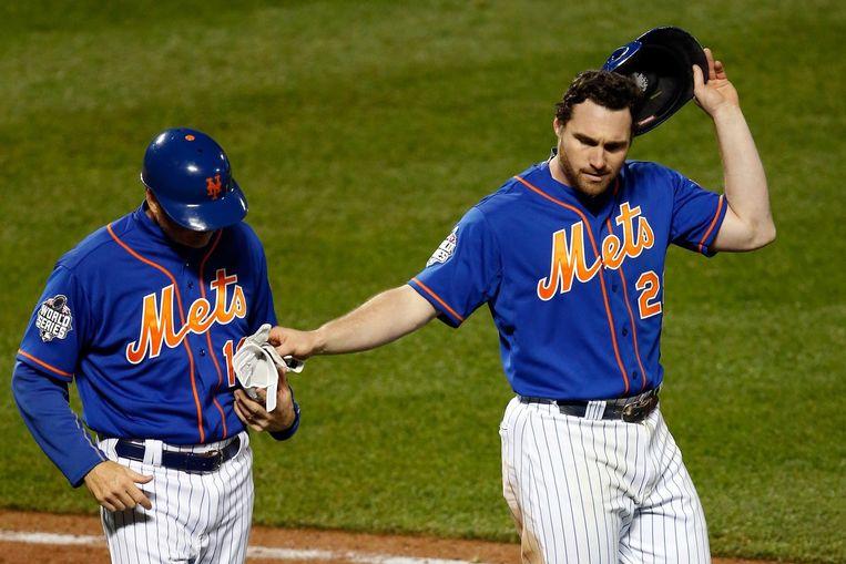 Daniel Murphy van de New York Mets. Beeld afp