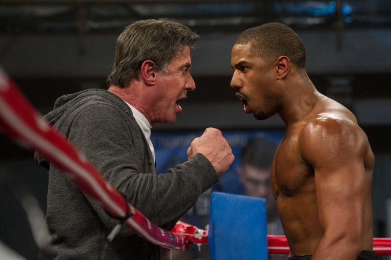 Sylvester Stallone (links) en Michael B. Jordan in Creed (Ryan Coogler, 2015). Beeld