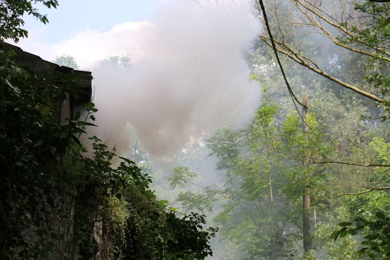 De brand ging gepaard met hevige rookontwikkeling