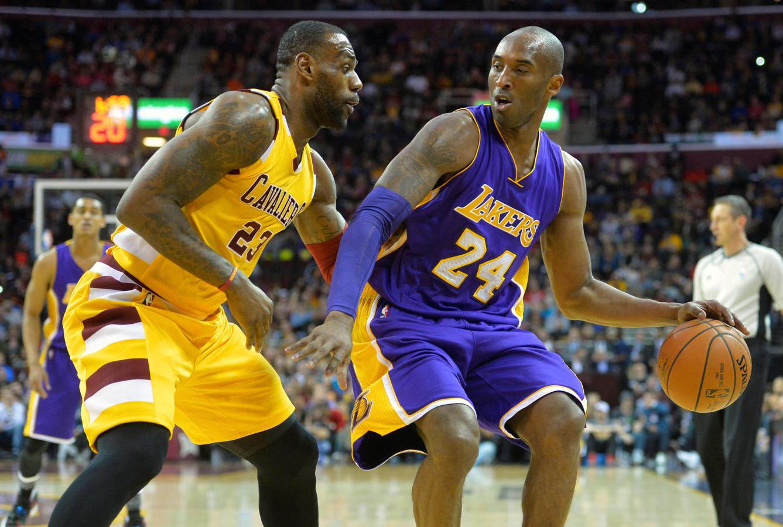 LeBron James en Kobe Bryant .