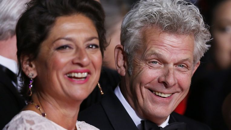Alex van Warmerdam en zijn vrouw Annet Malherbe Beeld afp