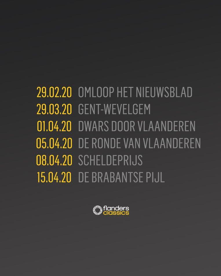 Kalender Flanders Classics.