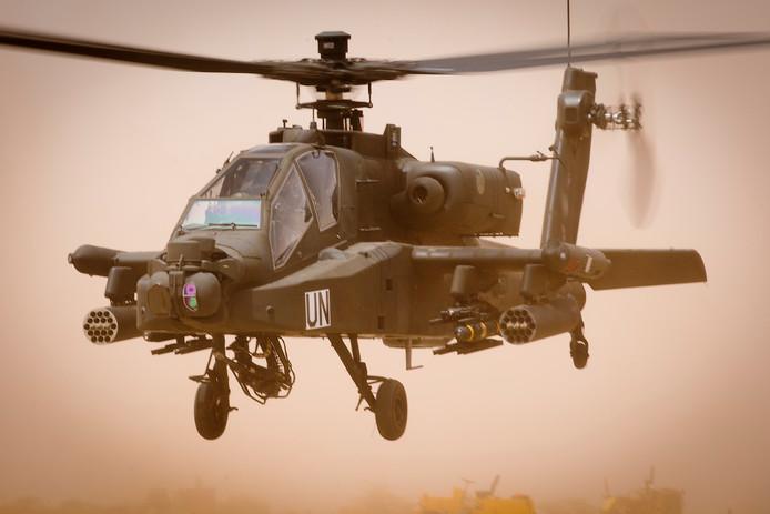 Een Nederlandse Apache gevechtshelikopter.