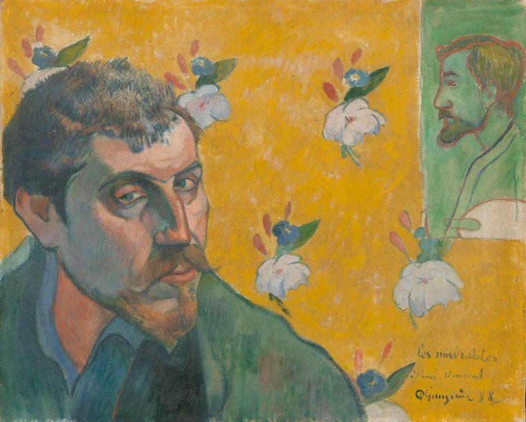 Zelfportret met portret van Émile Bernard (Les misérables), Paul Gaugain Beeld