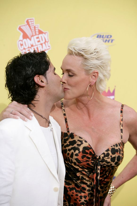 Brigitte Nielsen met haar man Mattia Dessi in 2007.