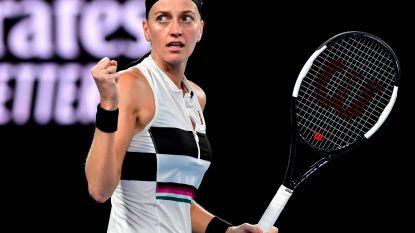 Kvitova verovert ticket voor halve finales, Tsjechische rekent in twee sets af met Barty