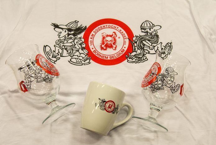 Naar aanleiding van de jubileumeditie stelde de Dodentocht een nieuw Duvelglas voor. De tekening werd ook gedrukt op tassen en T-shirts.