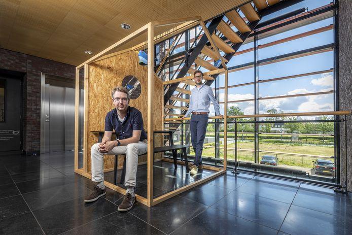 Joost Diepenmaat (l) en Edwin Vlieg zijn de bazen van Moneybird, het razend populaire boekhoudprogramma voor zzp'ers.