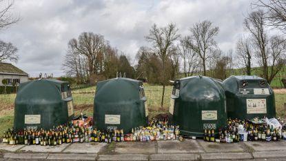 In dit Oost-Vlaamse dorpje wordt wel heel veel gedronken. Of is men gewoon het glas vergeten ophalen?