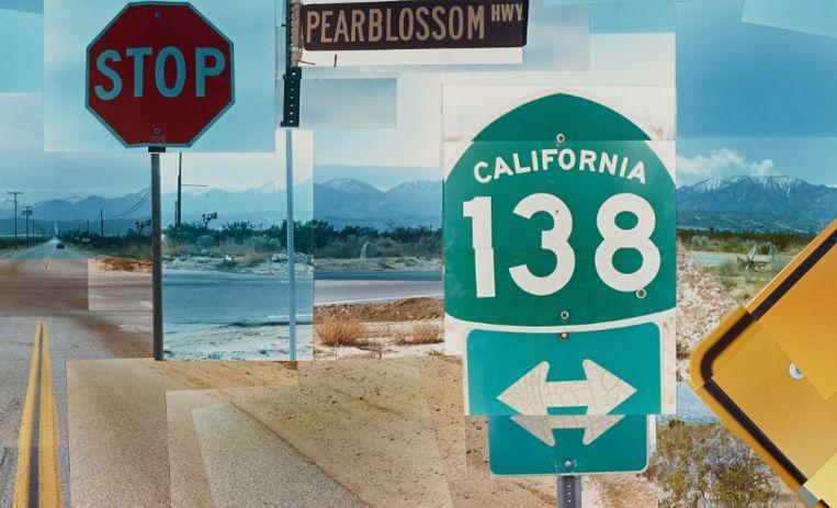 Van Dhr. Bas Lewerissa, uit: Pearblossom Hwy., 11 - 18th April 1986, #2, David Hockney, 1986, Getty Museum Los Angeles Beeld Getty Museum Los Angeles