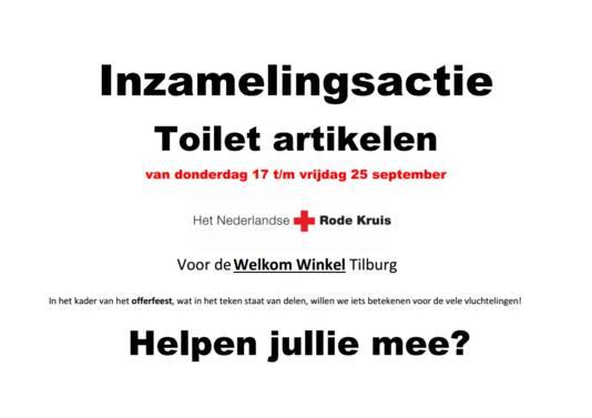 De Offerfeest-flyer op basisschool Wandelbos.