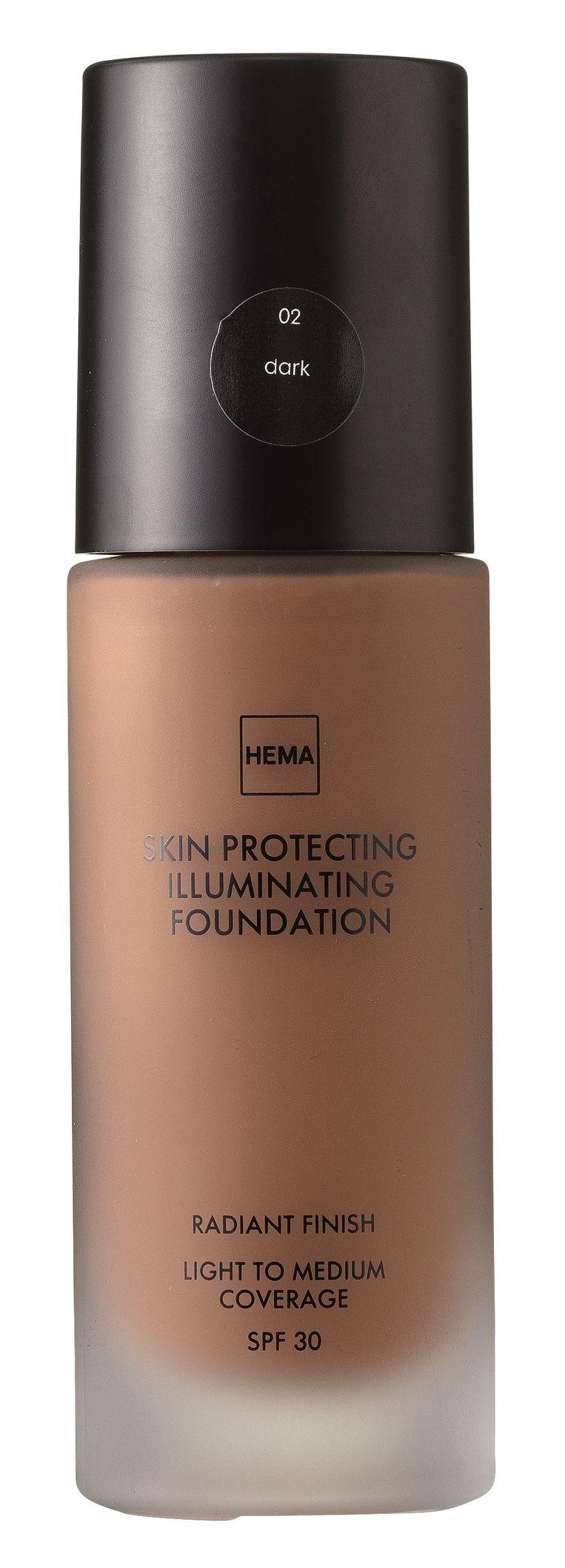 Hema Skin Protecting Illuminating Foundation, in 13 tinten, € 7,50. Beeld null