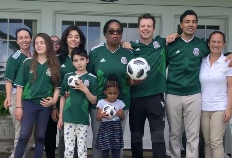 Oprah supporters voor Mexico.