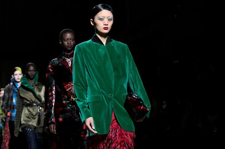 Modeshow Dries Van Noten, Parijs.