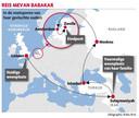 De route die Mevan Babakar aflegde in de sporen van haar ouders die in de jaren negentig van Irak naar Zwolle reisden.
